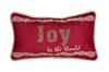 "ML17133 Joy to the world Pillow, 8""x14"""