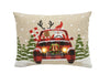 ML18922 Snowy Car By Santa Light Up Pillow  13 by 18''