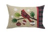 ML18926 Cardinal Noel Peace Joy Jute Pillow 13.5''x20''