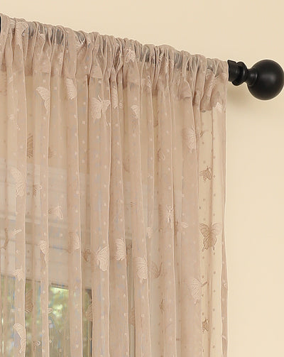 ML19071 Elegent Butterfly Sheer Curtain