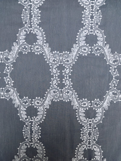 ML19151 Krystal Clear Geometric Sheer Curtain