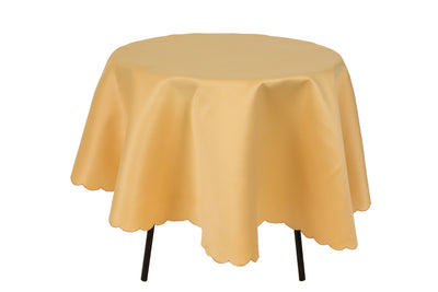 XD75018F Gamboge Solid Tablecloth