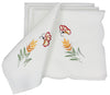 "XD02010 Elegant Embroidered Napkins, 21""x21"", Set of 4"