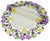 XD101812 Fancy Flowers Doilies, Set of 4