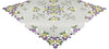 "XD101812 Fancy Flowers Table Topper, 34""x34"""