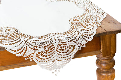 "XD10181 Dainty Lace Table Topper, 36""x36"""