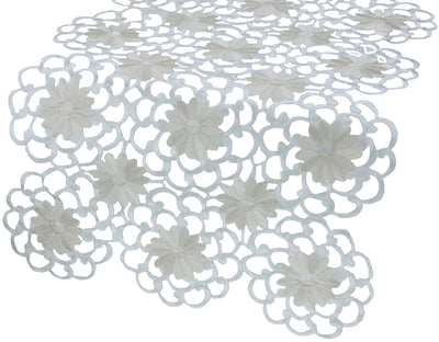 XD10183  Daisy Splendor Table Runner