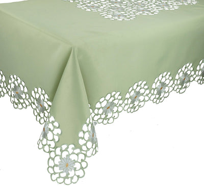 XD10183  Daisy Splendor Tablecloth