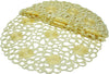 XD10183  Daisy Splendor Round Doilies, Set of 4