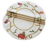 "XD10813  Harvest Vine Round Placemats,16""  Set of 4"
