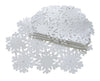 "XD10816 Shimmer Snowflake Placemats, 14""x20"", Set of 4"