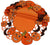 XD11035 Happy Jack-O-Lanterns Round Doilies, Set of 4