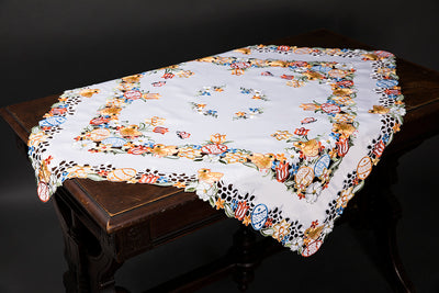 "XD110718 Spring Chicks Table Topper,34""x34"""