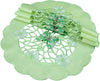 "XD110728 Emerald Mariposa Round Placemats, 16"", Set of 4"