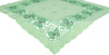 "XD110728 Emerald Mariposa Table Topper, 34""x34"""