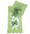 "XD110728 Emerald Mariposa Traycloth,8""x15"", Set of 4"