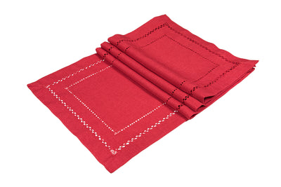 XD11099 Double Hemstitch Placemats,13''x19'', Set of 4