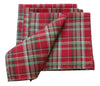 XD111618 Holiday Tartan Napkins, 20''x20'', Set of 4
