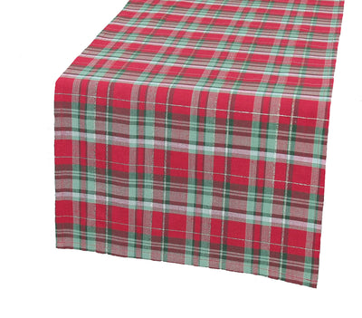 XD111618 Holiday Tartan Table Runner