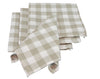 "XD12008 Gingham Check Napkins, 20""x20"",Set of 4"