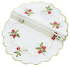 XD13401 Holly Berry Doilies, Set of 4