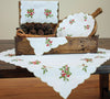 XD13401 Holly Berry Table Topper, 34''x34''