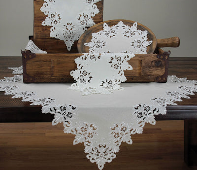 "XD13988 Victorian Lace Table Topper,34""x34"""