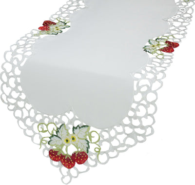 XD14006 Strawberry Embroidered Table Runner
