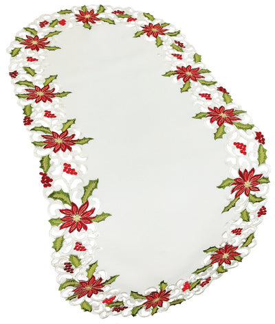 XD14782 Poinsettia Lace Table Runner