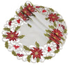 XD14782 Poinsettia Lace Doilies, Set of 4