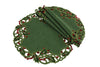 XD14791 Holly Embroidered Doilies, Set of 4