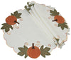 "XD14983 Pumpkin Patch Round Placemats, 16"", Set of 4"