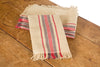 "XD15008 Natural Linen Stripe Tea Towels, 14""x22"", Set of 4"