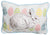 "XD15151 Bunny Eggs Applique Jute Pillow,13""x18"""
