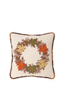 "XD15833 Maple Wreath Pillow, 14""x14"""