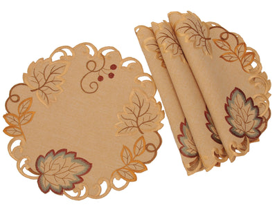 XD160901 Harvest Verdure Doilies, Set of 4