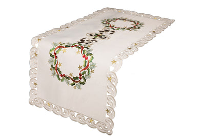 XD17103 Ribbon Wreath Table Runner