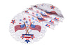 "XD17105 Star Spangled Placemats, 15""Rnd, Set of 4"