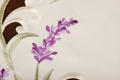 "XD17107 Lavender Lace Placemats, 15""Rnd, Set of 4"