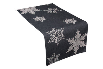 XD17141 Glisten Snowflake Table Runner
