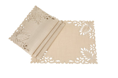 "XD17144 Wilshire Placemats,14""x20"", Set of 4"