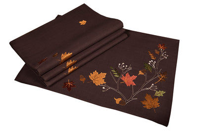 "XD17147 Autumn Branches Placemats,14""x20"", Set of 4"