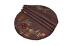 "XD17147 Autumn Branches Placemats, 16""Rnd, Set of 4"