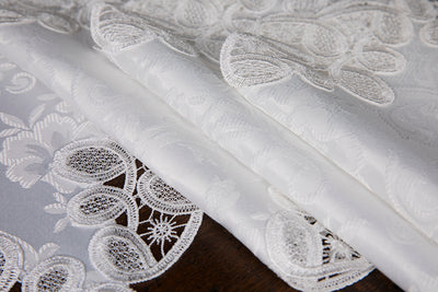 "XD17190 Antebella Lace Placemats,13""x19"", Set of 4"