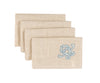"XD18113 Celeste Glistening Napkins, 20""x20"", Set of 4"