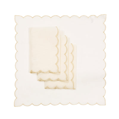 XD18265B Sleek Chic Sheer 20'' x 20'' Napkins, Set of 4