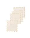 XD18265B Sleek Chic Sheer 6'' x 6'' Coasters, Set of 4