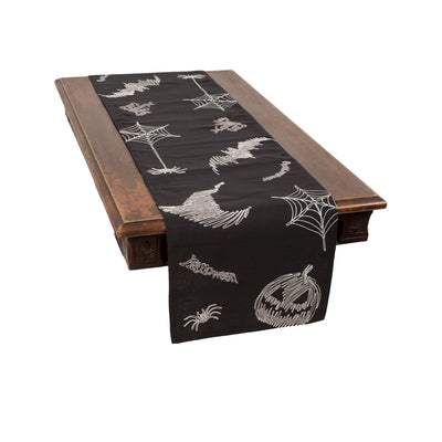 XD18802 Happy Halloween Double layer Table Runner