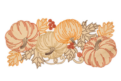 XD18804 Pumpkin Party Table Runner