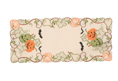 XD18809 Halloween Jack-O-Lanterns Table Runner